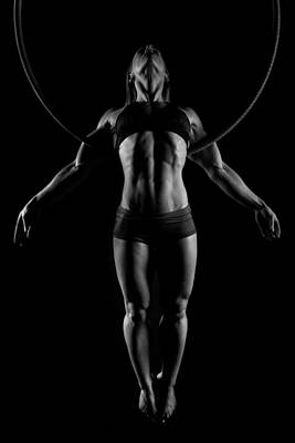 Gymnast Photograph - Balance Of Power - Symmetry by Monte Arnold