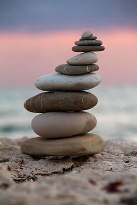 Pebble Photograph - Balance by Stelios Kleanthous