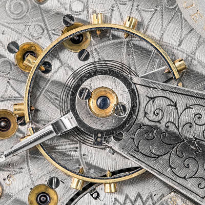 Balance Wheel Of An Antique Pocketwatch Print by Jim Hughes
