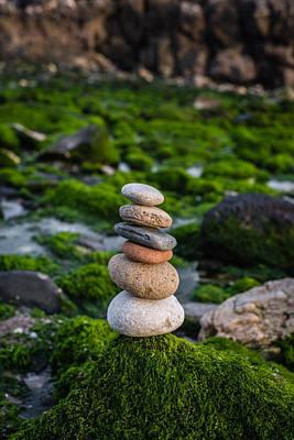 Balancing Zen Stones By The Sea II Original by Marco Oliveira