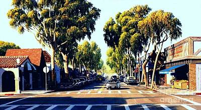 Fruit Stand Painting - Balboa Island Afternoon by Frank Dalton