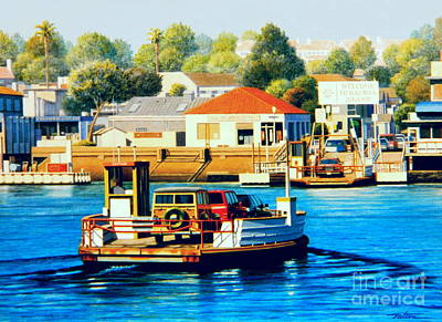 Wagon Painting - Balboa Island Ferry by Frank Dalton