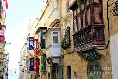 Maltese Photograph - Balconies Of Valletta 3 by Jasna Buncic