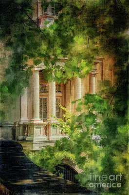 Balcony At Winterthur Print by Lois Bryan