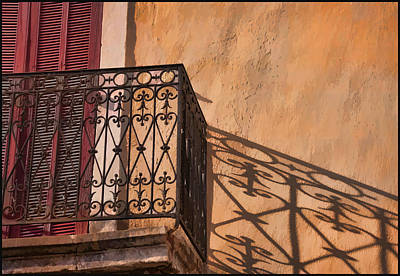 Balcony In Provence Print by Antique Images