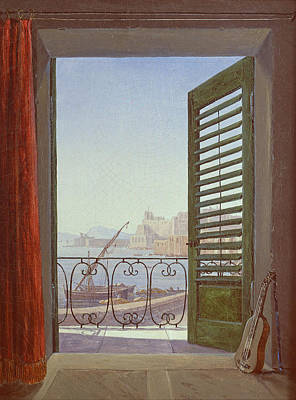 Carl Gustav Carus Painting - Balcony Room With A View Of The Bay Of Naples by Carl Gustav Carus