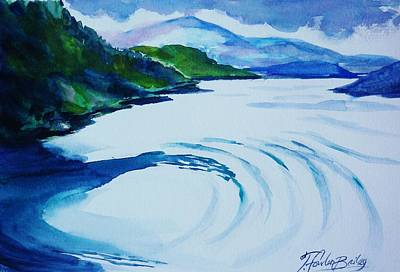 Painting - Balcony View In The Passage Alaska by Therese Fowler-Bailey