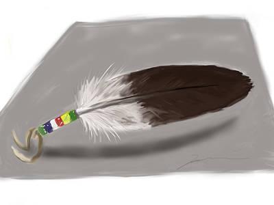 Bald Eagle Feather Print by Jean Pacheco Ravinski