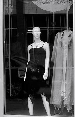 Bald Woman In Black Lacey Slip Print by Robert Frank Gabriel