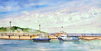 Balearia Ferries In Ibiza Print by Miki De Goodaboom