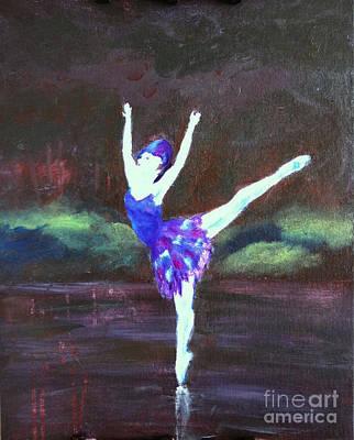Dance Floor Painting - Balerina by Jamie Hartley