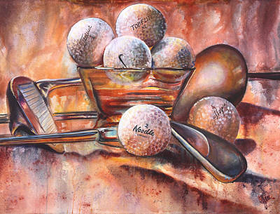 Ball And Club Original by Jami Childers