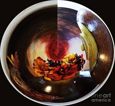 Abtract Digital Art - Ball Of Flowers by Marsha Heiken