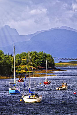 Artwork Photograph - Ballachulish Harbor by Marcia Colelli