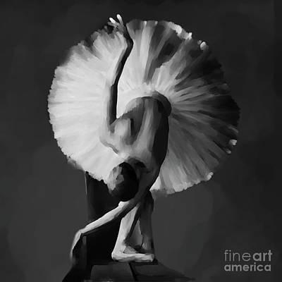 Ballet Painting - Ballerina Dance Art 12 by Gull G