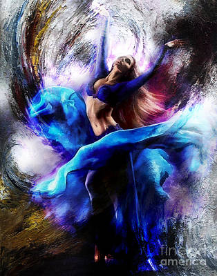 Dancers Painting - Ballerina Dance009-a by Gull G