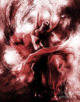 Woman Painting - Ballerina Dance009 by Gull G