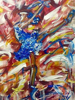 Ballerina In Blue Original by Nikki Frazier