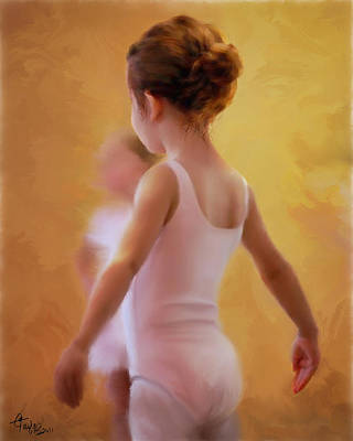 Ballerina In Pink Print by Colleen Taylor