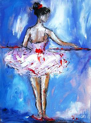 Ballerina Painting - Dance So Well  They Cant Ignore  by Mary Cahalan Lee- aka PIXI