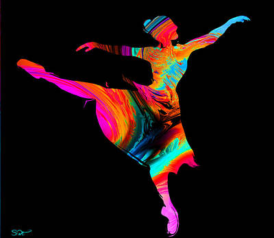 Ballerinas Painting - Ballerina Painted By Light by Abstract Angel Artist Stephen K