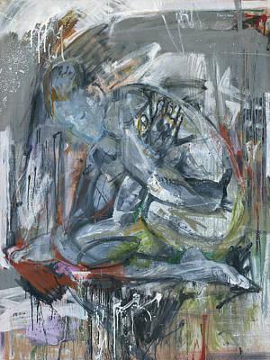 Ballerina, Sitting Female Nude Original by Grigorii Pavlychev
