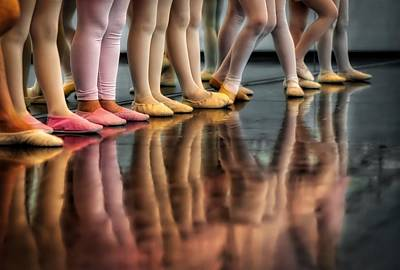 Child Ballerina Photograph - Ballet Class by Skitterphoto