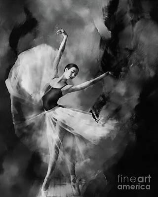 Ballet Painting - Ballet Dance 03340 by Gull G