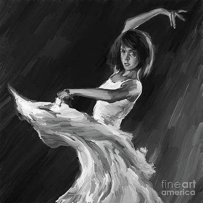 Woman Painting - Ballet Dance 0905 by Gull G