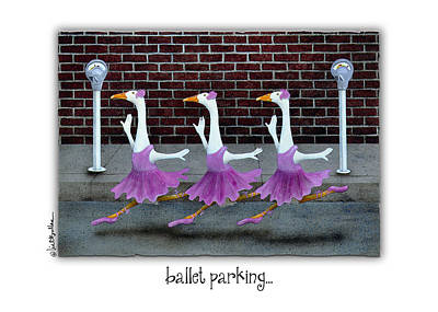 Ducks Painting - Ballet Parking... by Will Bullas