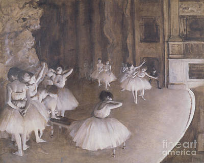 Ballet Painting - Ballet Rehearsal On The Stage by MotionAge Designs
