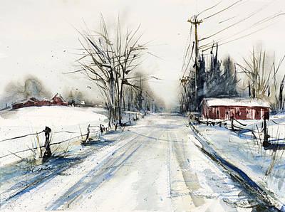 Ballina Road Print by Judith Levins