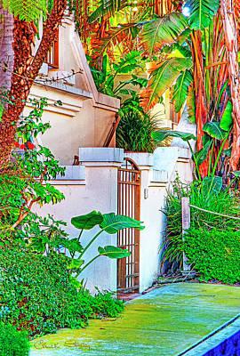 Marina Del Rey Photograph - Ballona Lagoon Gate by Chuck Staley