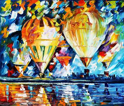 Children Sports Painting - Balloon Festival New by Leonid Afremov
