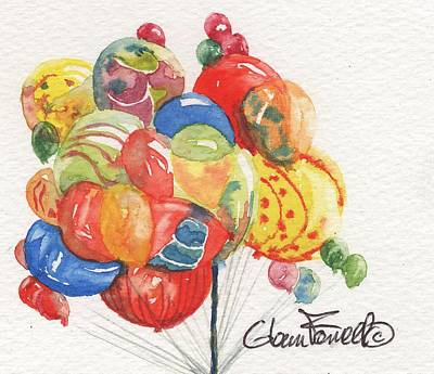 Balloon Vendor Painting - Balloons 2 by Glenn Farrell