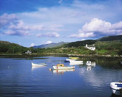 Wooden Houses Photograph - Ballycrovane Harbour, Beara Peninsula by The Irish Image Collection