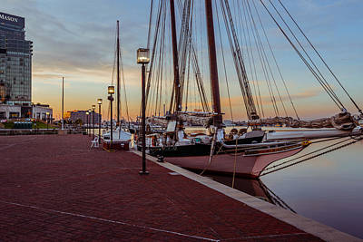 Waterview Photograph - Baltimore At Sunrise by Jim Archer