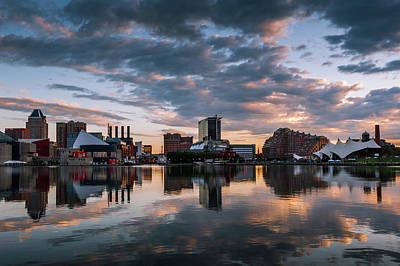 Waterview Photograph - Baltimore Dawn by Jim Archer