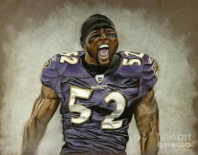 Baltimore Raven Ray Lewis Original by Jordan Spector