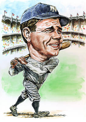 Babe Ruth Painting - Bambino by Tom Hedderich