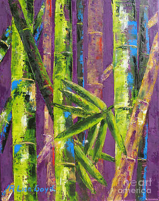Bamboo By Pallet Knife Print by Lisa Boyd