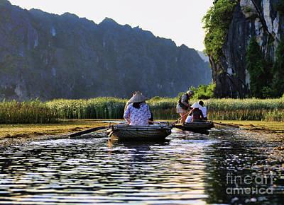 Binh Photograph - Bamboo Raft 3 by Chuck Kuhn