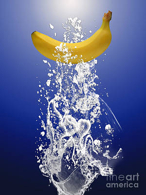 Banana Mixed Media - Banana Splash by Marvin Blaine