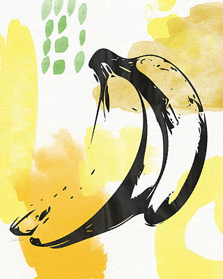Orange Mixed Media - Bananas- Art By Linda Woods by Linda Woods