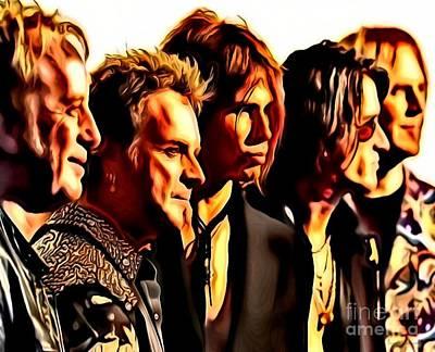 Aerosmith Digital Art - Band Who by Catherine Lott