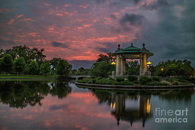 Bandstand In Front Of The Muny Print by Garry McMichael