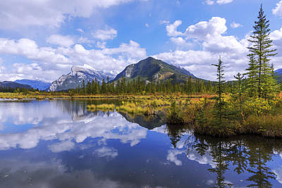 Alberta Photograph - Banff Reflection by Chad Dutson