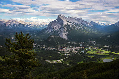 National Park Photograph - Banff Town In Canadian Rockies by Dave Dilli