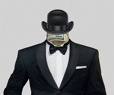 Of Money Photograph - Banker by Manfred Lutzius
