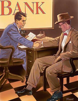 Banker Print by Valer Ian